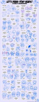 Let's Draw: Pony Heads! Tutorial #1
