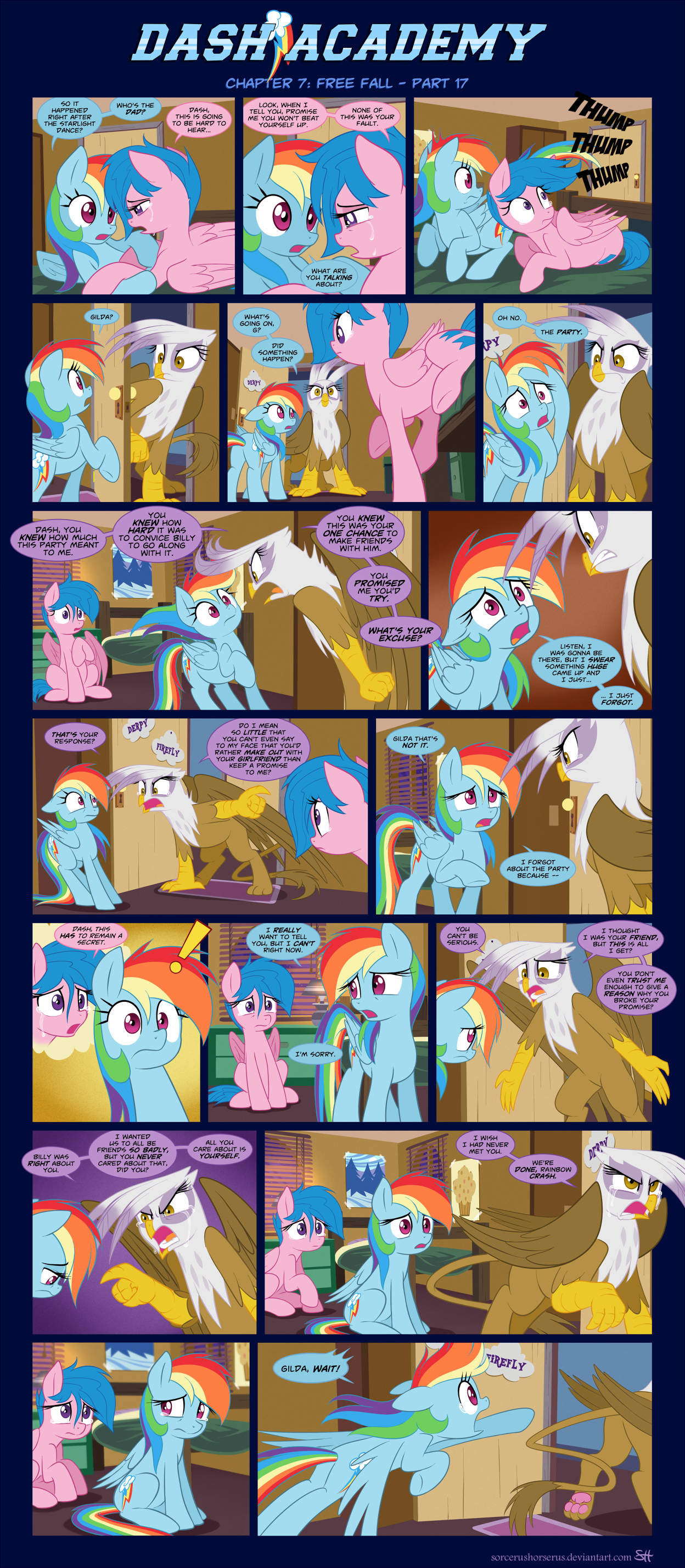 Dash Academy Chapter 7 - Free Fall #17 by SorcerusHorserus