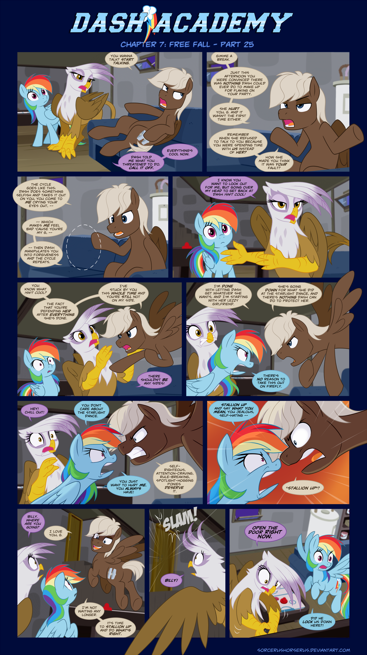 Dash Academy Chapter 7 - Free Fall #25 by SorcerusHorserus
