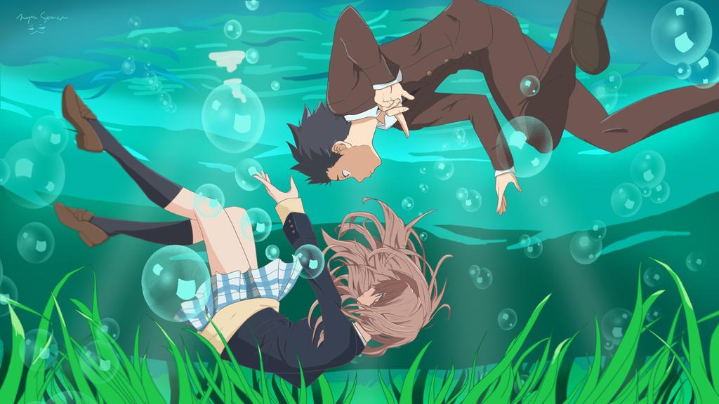 koe no katachi underwater by nyanpunch on deviantart