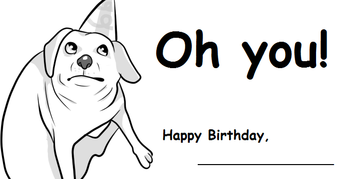 Printable Birthday Card by yamashta on DeviantArt – Black and White Birthday Cards Printable
