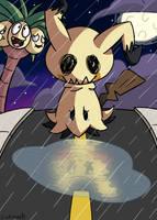 I'm not Pikachu, I'm Mimikyu by linkniak