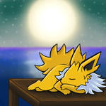 Jolteon Napping By Moonlight