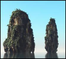 Thai cliffs by Vejza