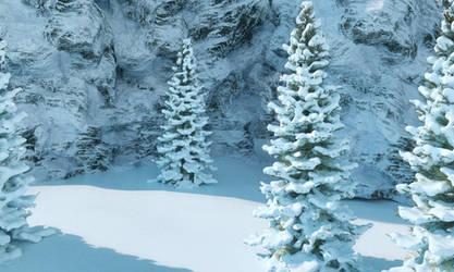 Snow shader test..