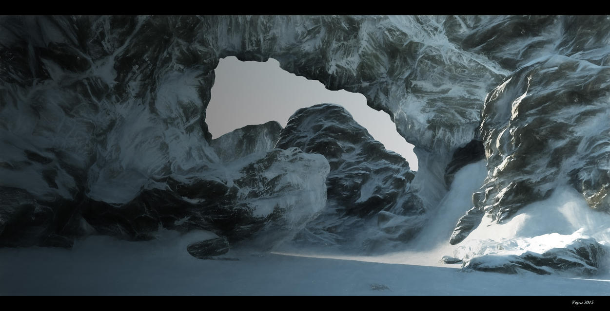 Winter environment 3D paintover by Vejza