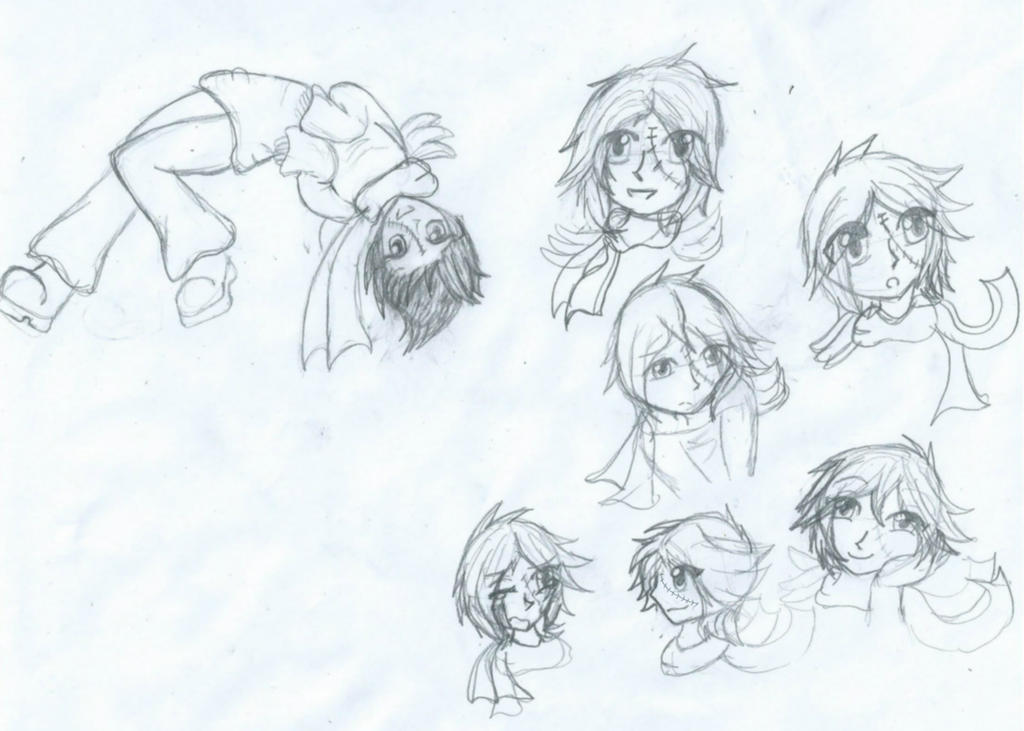 Character Sketchies by The1andonlyRaven