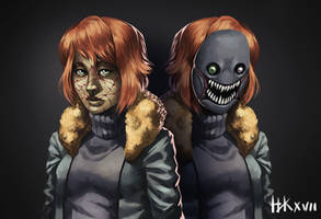 Gift - Beast Hunt - Creepypasta OC Fanart by nickkaur