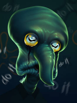 Squidward - Creepypasta Fanart