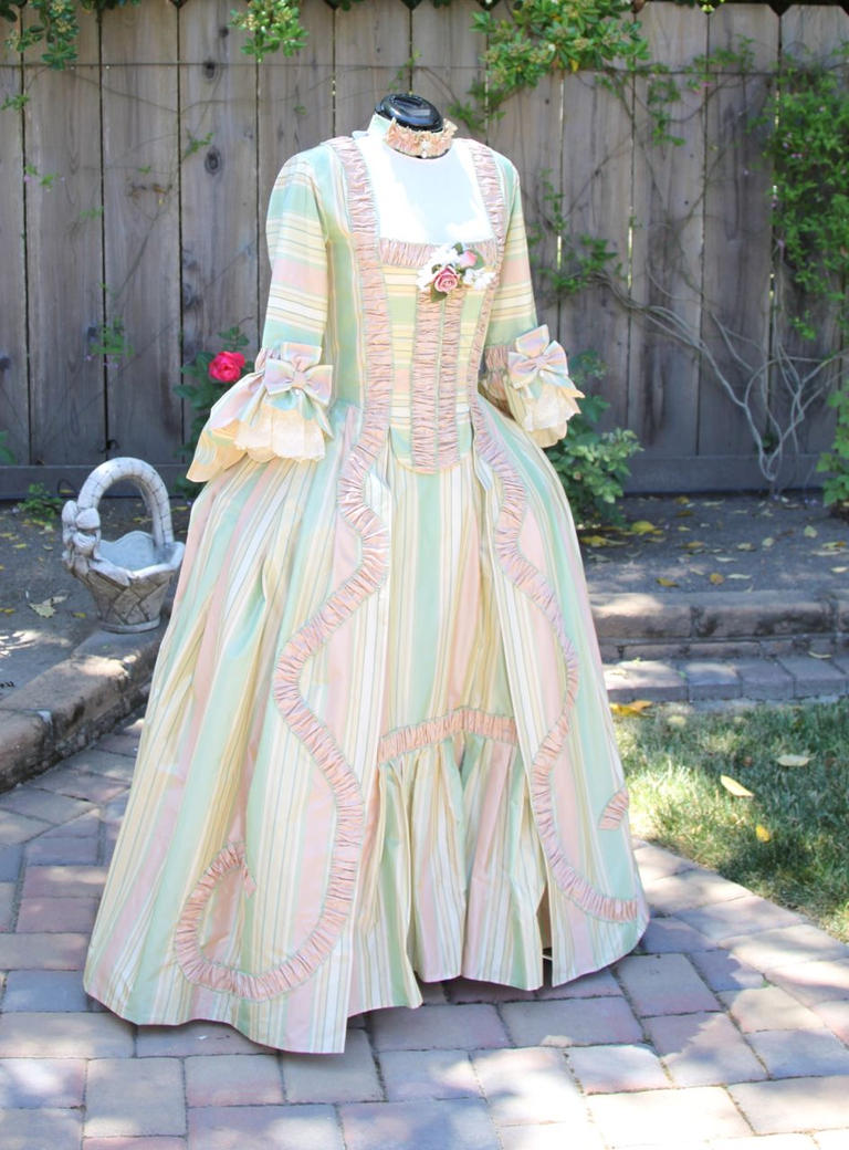 18th Century Gown Commission by AlAlNe