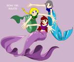 me and my friends as Mermaid