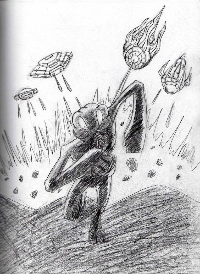 Chasing the alien by Felipe400