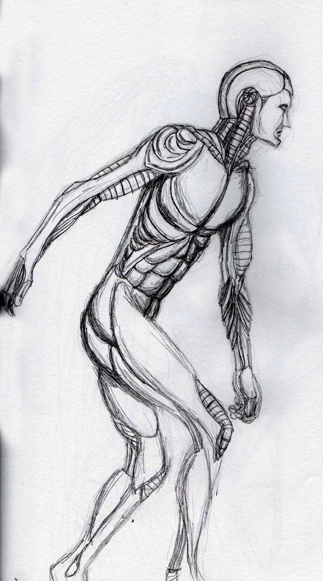 Cyborg sketch 1 by Felipe400