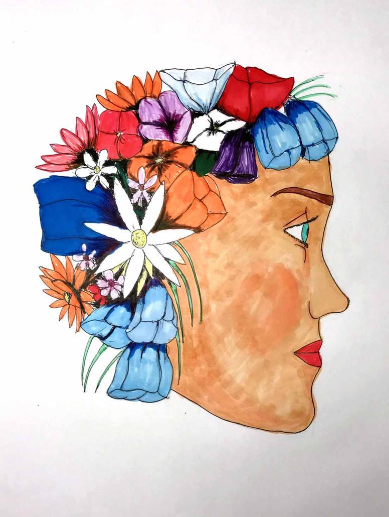 Flower woman colors by Felipe400