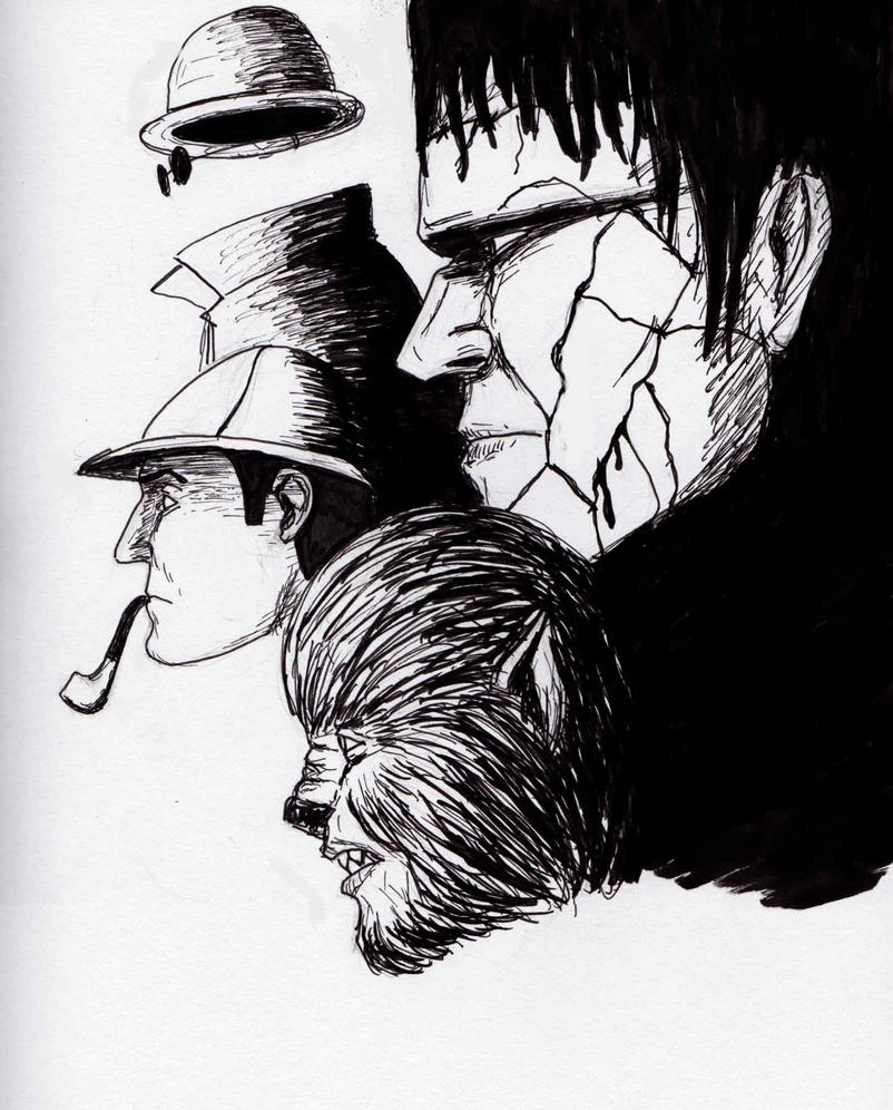 Sherlock, Invisible Man, Wolfman and Frankestein by Felipe400