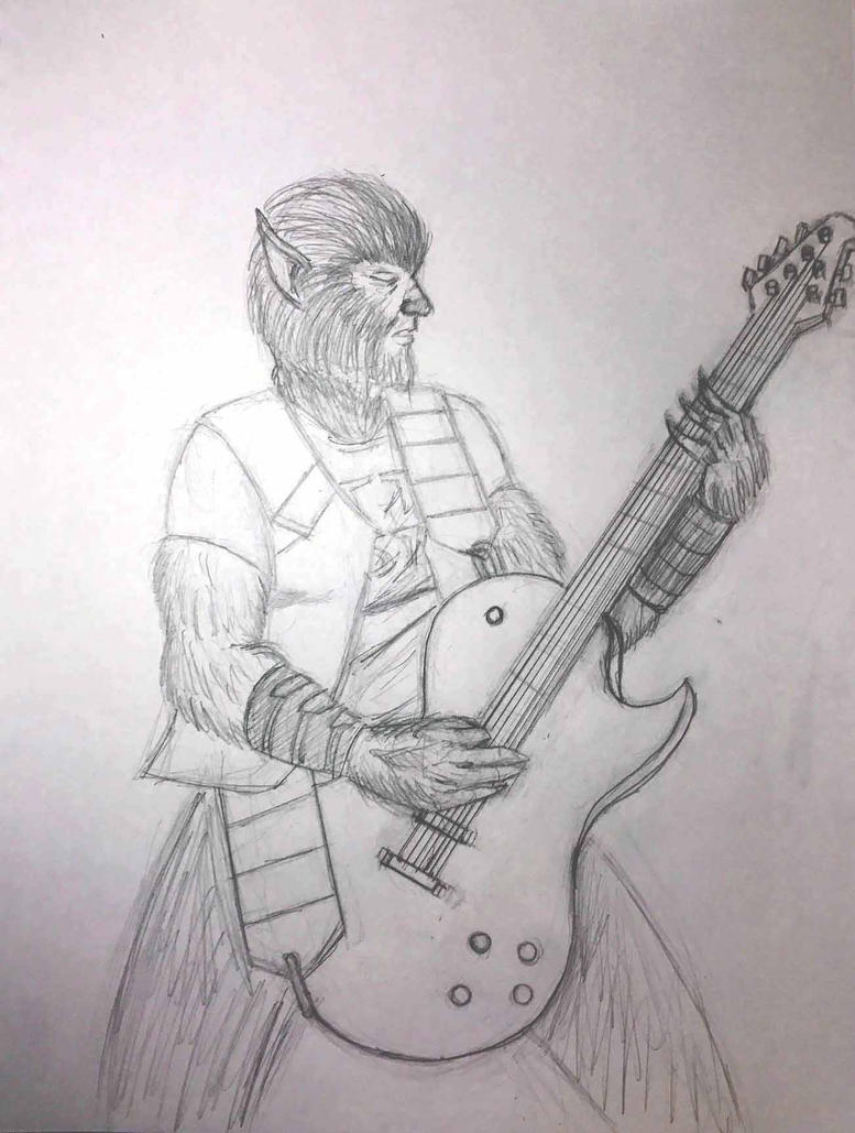 Guitar Wolf (Pencils) by Felipe400