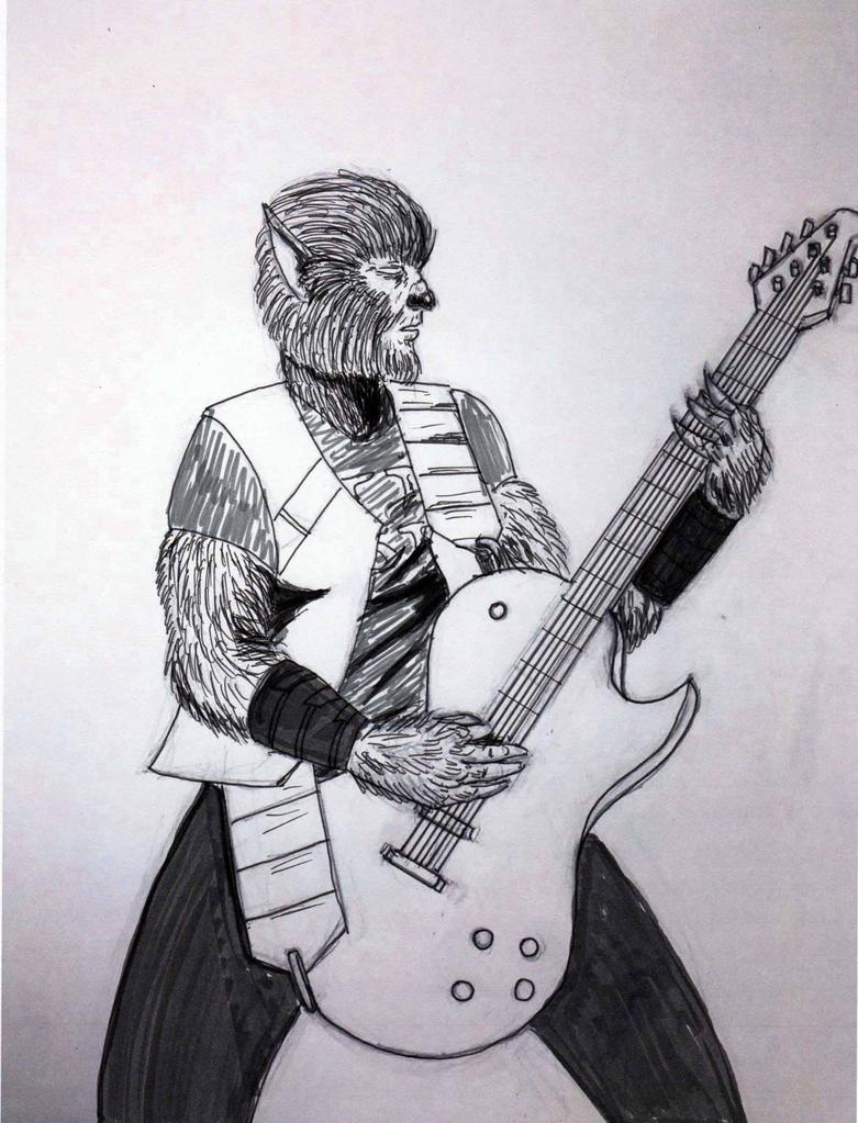 Guitar Wolf (Inks) by Felipe400