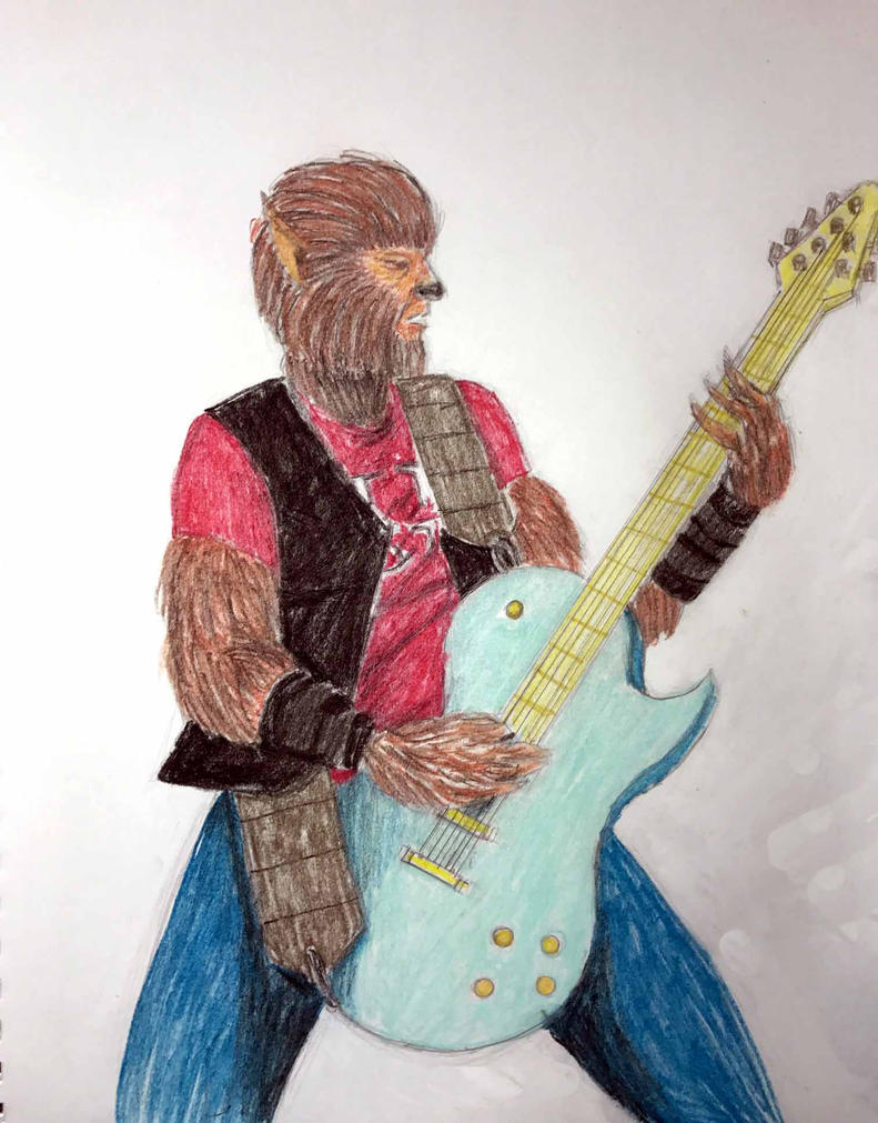 Guitar Wolf (Pastel colors) by Felipe400