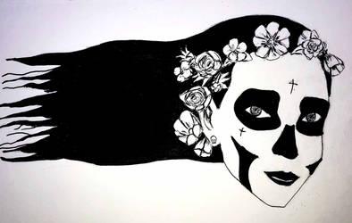 Death Girl inks by Felipe400