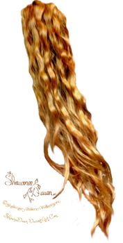 Wavy Red Hair Stock