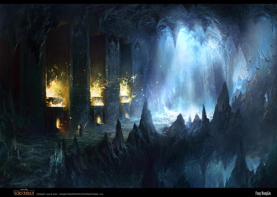 Age of Conan Travel to Atlantis corridor by FangWangLlin