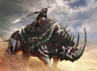 Desert cavalry by FangWangLlin