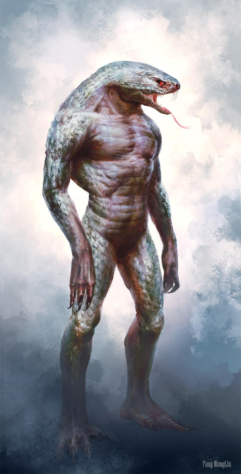snake man by FangWangLlin