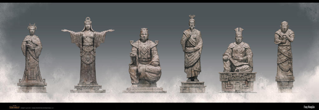 Oriental style statue by FangWangLlin