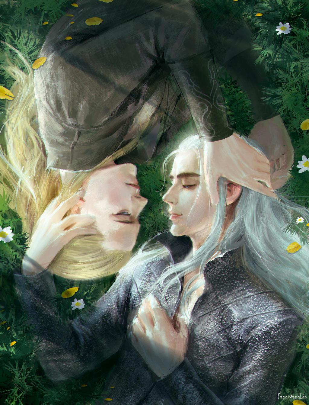 Thranduil and Legolas by FangWangLlin on DeviantArt