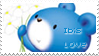 IBIS Roo Roo Bear Love stamp by becka72