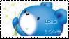 IBIS Roo Roo Bear Love stamp by becka72