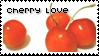 Cherry fruit love stamp