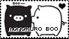 MonokuRo Boo Pig stamp by becka72