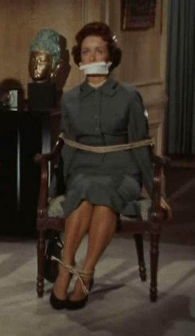Lois Lane Bound And Gagged In The Hot Seat By