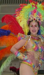 Beautiful Japanese Samba Dancer