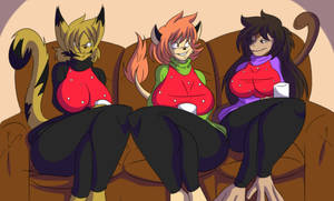 My True Love Gave To Me, Three Anthros Chatting~