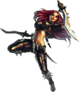 renders League Of Legend  Katarina_by_warriorpredator-d4py4it