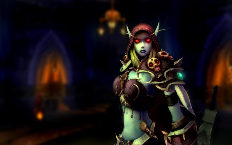 sylvanas_windrunner_by_findae_wallpapers