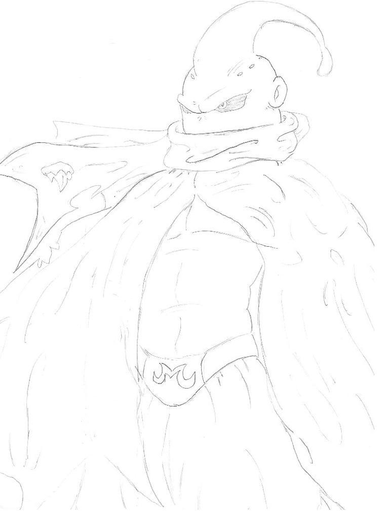 Cloaked Majin Buu by chaosgodzilla
