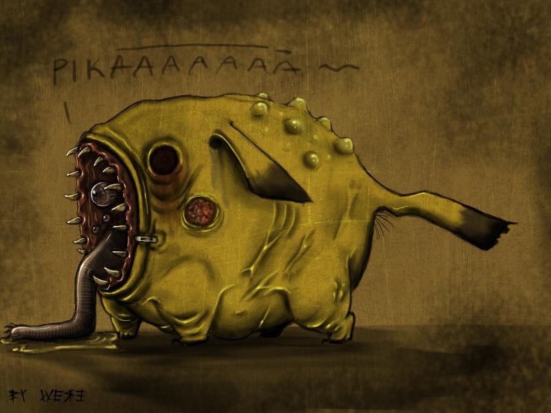 Pikachu by WEREsandrock