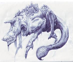 degenerated dragon by WEREsandrock