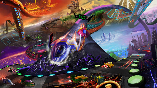 F-Zero Race the Galaxy