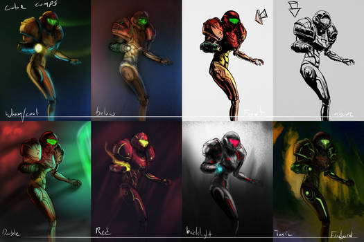 Samus color comps