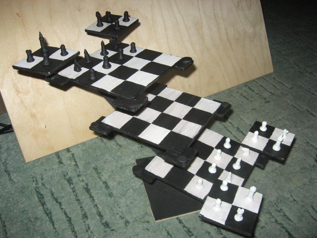 Tri dimensional chessboard by szirka on deviantart - Tri dimensional chess set ...