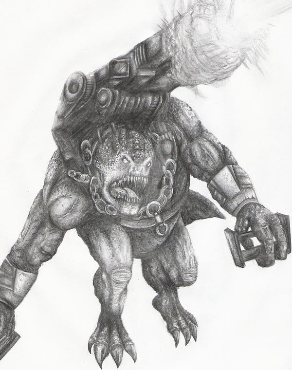 Gears of war 2 -Brumak by jpizzle6298