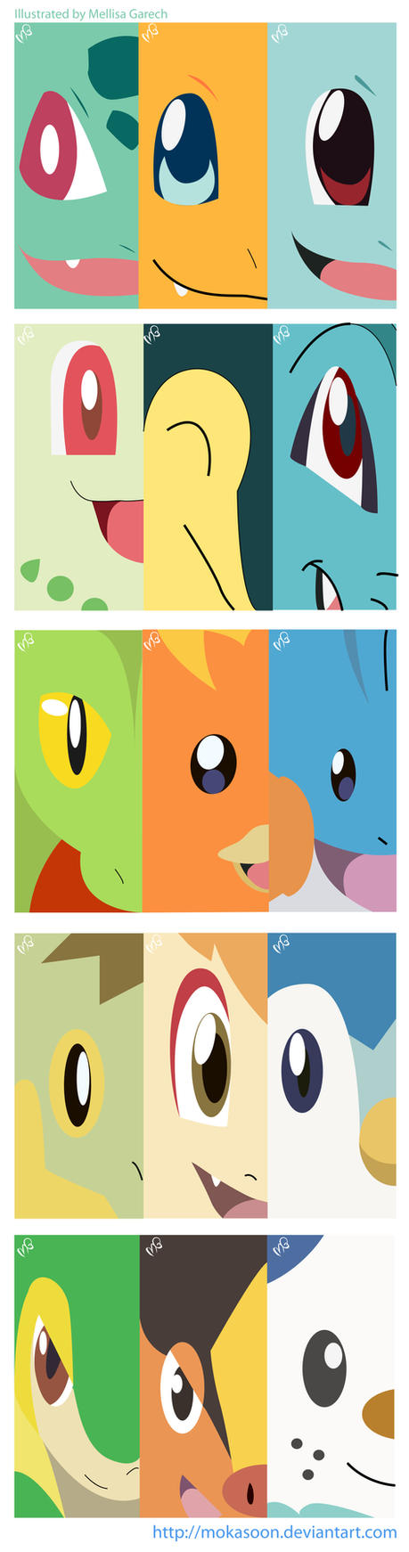 Pokemon Starters by MokaSooN
