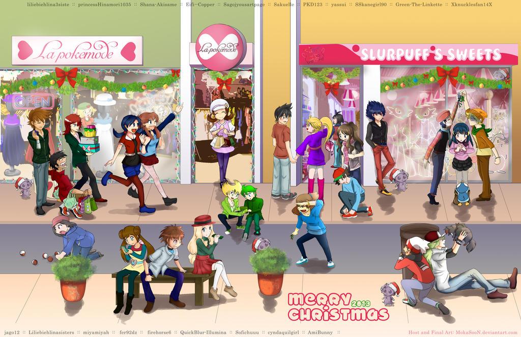 Pokemon Christmas Collab 2013 (+ story) by MokaSooN