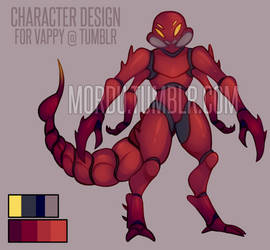 [C] Character Design For Vappy by xMordu