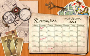 Steampunk NaNoWriMo Wallpaper by simply