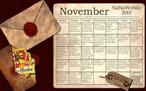 Gryffindor NaNoWriMo Wallpaper by simply
